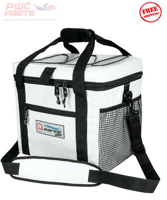 IGLOO Marine Ultra 24 Can Soft Sided Cooler w/ Side Pouch Mesh Yamaha Boat 57176
