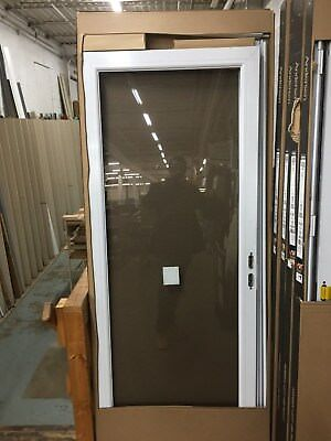 Nib Pella 32 X 80 High Storm Door With Full View Gl Screen