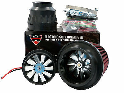 5PSI ELECTRIC SUPERCHARGER TURBO ADD HORSEPOWER + TORQUE INTAKE FOR Cadillac