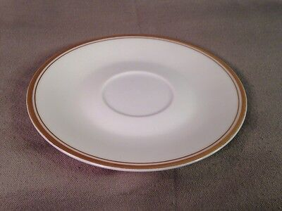 "Sheffield Saucer Regency Gold Porcelain Fine China Japan Gold Accents 6"" Round"