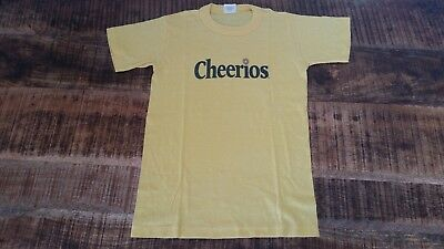 d0fa4022bab Vintage Youth Womens 1980s CHEERIOS Yellow Cotton Blend Retro T-Shirt Sz-L