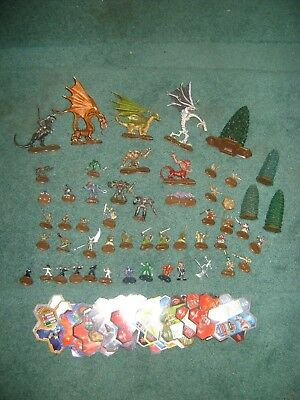 Heroscape  Lot Of 50 Figures,  4 Trees , Some Cards