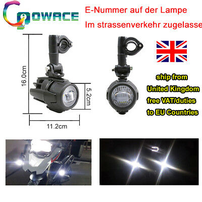 Fit BMW R1200GS/F800GS 40W LED Auxiliary Fog Light Assembly Safety Driving Lamp