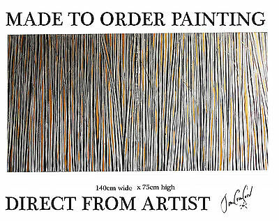 "55"" Painting  Aboriginal landscape  Australia Art COA Huge gold fields texture"