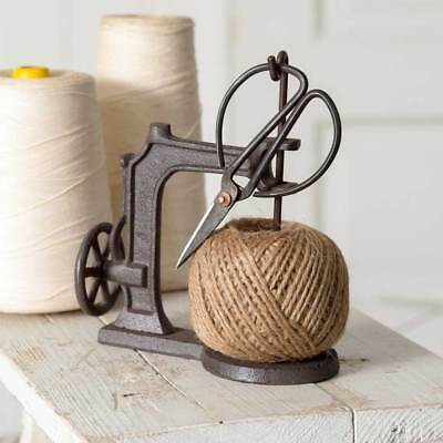 Farmhouse Vintage Cast Iron Sheers Scissors Jute Twine String Kitchen Crafts New