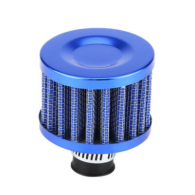 Universal 13mm Car Cold Air Intake Filter Kit Crankcase Vent Cover Breather Blue