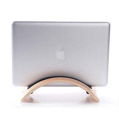 Wooden Macbook Laptop Holder Desktop Vertical Stand Mount  Macbook Pro Notebook