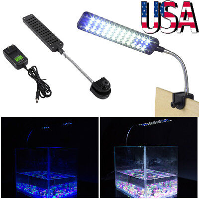 Flexible 48 LED Aquarium Light Flexible Arm Clip on Plant Grow Fish Tank Lamp US