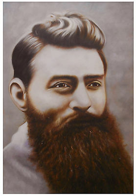 Print Poster  Vintage Ned Kelly portrait Australia Canvas art painting  Framed