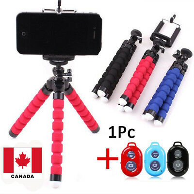 "5.5"" Flexible Smartphone Tripod With Bluetooth Remote for iPhone Samsung Canada"