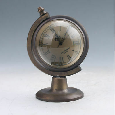 Collectible Old Chinese Brass Handwork Mechanical Globe Clock