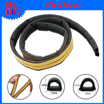 Black D Profile EPDM Rubber Seal Self Adhesive Weather Stripping For Door Window