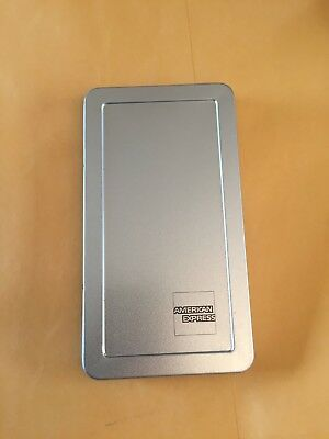 American Express 25 Silver Metal Tip Trays Check Presenters Free Ship Sale!!!!!