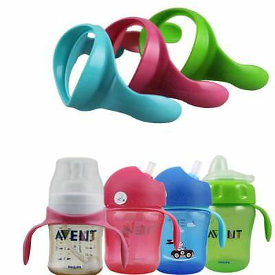 2 Pcs Safe Feeding Bottle Handles for Avent Wide Mouth Feeding Milk Bottle