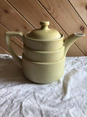 Art Deco Coors Pottery Coorsite Yellow Teapot Coffee Pot #387