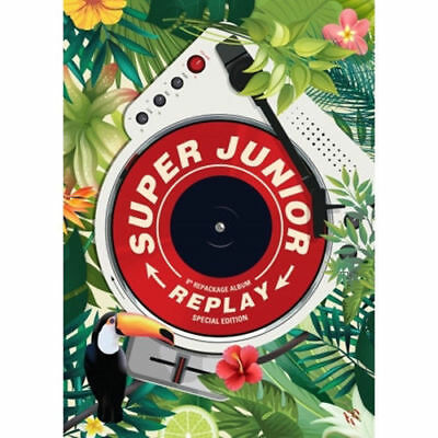 SUPER JUNIOR [REPLAY] 8th Repackage Album NORMAL/SPECIAL CD+POSTER+P.Book+Card