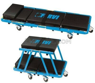 2 In 1 Car Van Mechanic Garage Workshop Rolling Creeper Stool Seat Fervi 0645/Cs