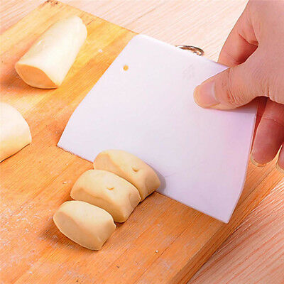 Plastic Dough Icing Fondant Scraper Cake Smoother Decorating Baking Pastry Tools