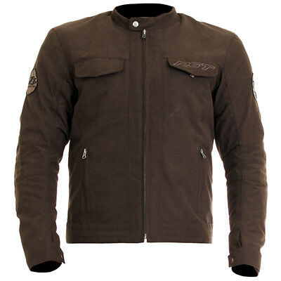 RST Isle Of Man TT Crosby CE Textile Motorcycle Cafe Racer Jacket - Brown