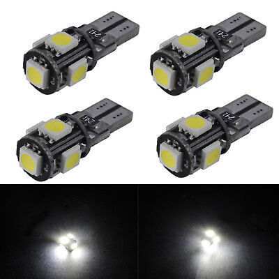 2/4/6Pcs 5 SMD LED 501 T10 W5W PUSH WEDGE CAPLESS BRIGHT LED SIDE LIGHT BULBS