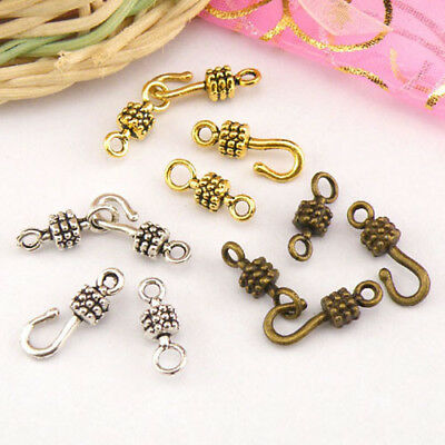 8Sets Tibetan Silver,Antiqued Gold,Bronze Hooks Connectors Toggle Clasps M1417