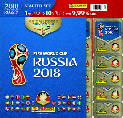 FIFA Worldcup Russia 2018 Sticker Starter-Set ~  ~  4141343609997