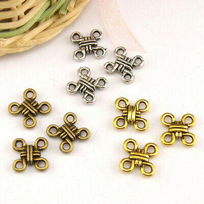 20Pcs Tibetan Silver,Gold,Bronze Knot Charm Pendants Connectors M1446