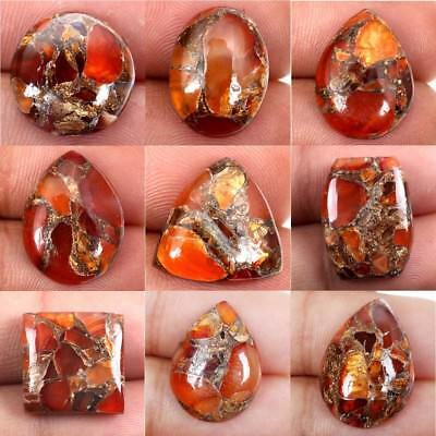 Lovely CARNELIAN COPPER MOHAVE Cabochon Gem 1 Pcs Choose From Variation # S27560