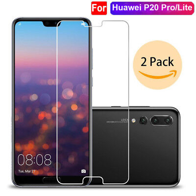 2Pcs 9H HD Clear Tempered Glass Film for Huawei P20 Pro/P20Lite Screen Protector
