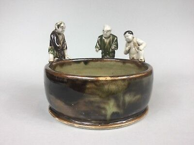 Japanese Vintage Sumida Ware Pottery Bowl