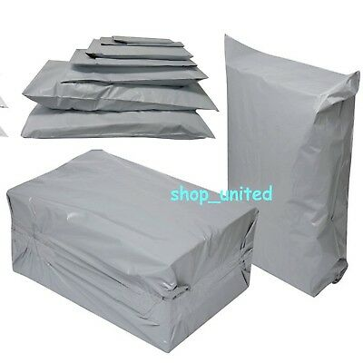 50 MIXED MAILING BAGS GREY PARCEL PACKAGING 12 x 16 and 10 x 14 Cheapest by far!
