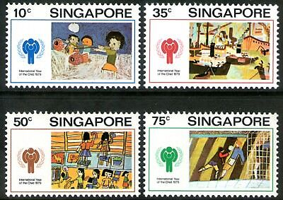 Singapore 1979 Year of the Child set of 4 Mint Unhinged
