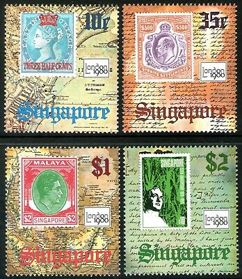 Singapore 1980 London 1980 Stamp Exhibition set of 4 Mint Unhinged