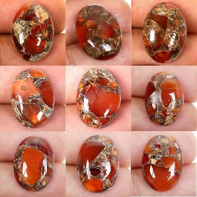 CARNELIAN COPPER MOHAVE Cabochon Gemstone 1 Pcs Choose From Variation 18x13 mm