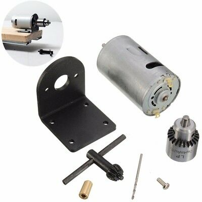 12-24V Mini Hand Drill DIY Lathe Press 555 Motor With Chuck + Mounting Bracket