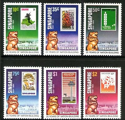 Singapore 1984 25 Years of Nation Building set of 6 Mint Unhinged