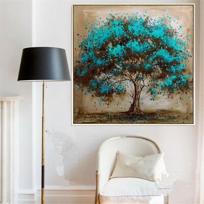 VV044 Modern Hand-painted Abstract Plant oil painting Tree No Frame 24in