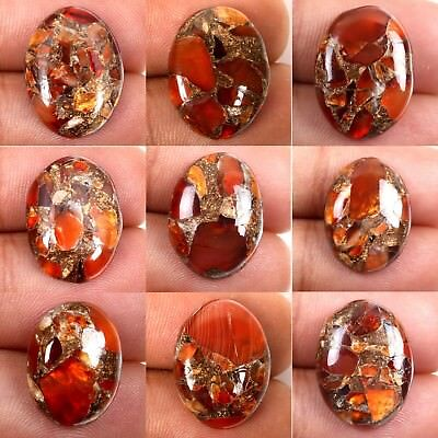 CARNELIAN COPPER MOHAVE Cabochon Gemstone 1 Pcs Choose From Variation 20x15 mm