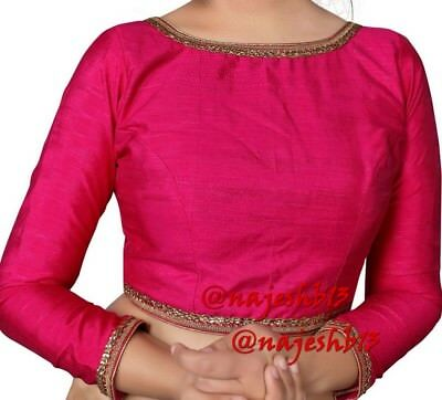 Readymade Saree Blouse,Pink Boat Neck Blouse,Designer sari Blouse,Crop Top