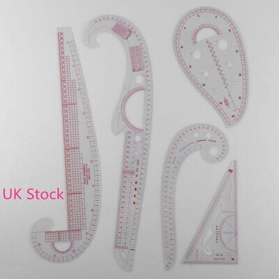 5pcs Multi-style Sew French Curve Metric Ruler Measure Sewing Dressmaking Tools