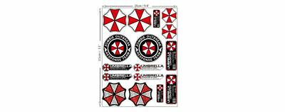 16 Aufkleber Sticker Set Umbrella Corporation Hive Parking Resident Evil Zombie
