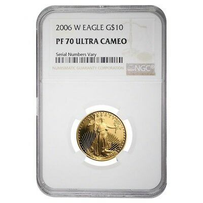 2006 W 1/4 oz $10 Proof Gold American Eagle NGC PF 70 UCAM
