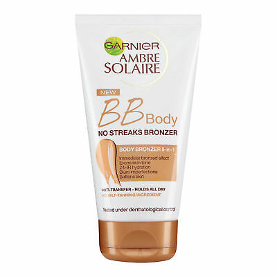 Garnier Ambre Solaire Bb Body No Streaks Bronzer 5-in-1 150ml Skin/Care/Sun/NEW