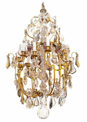 Palatial French Louis XV Style Bronze and Crystal Chandelier