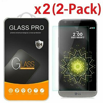2-Pack Premium Real Tempered Glass Film Screen Protector for LG G5