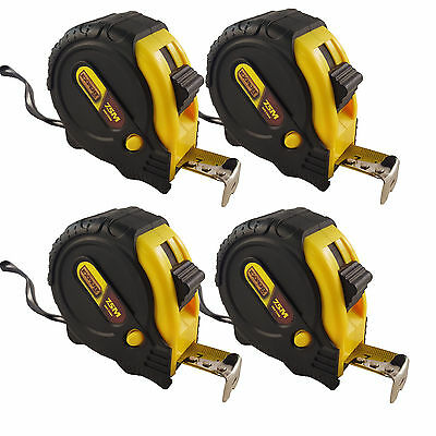 4x  new 7.5m /25ft Pocket Metal Tape Measure Tape Sturdy Durable Casing