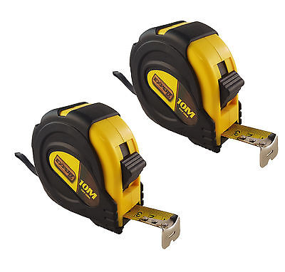 2x new 10m /33ft Pocket Metal Tape Measure Tape Sturdy Durable Casing