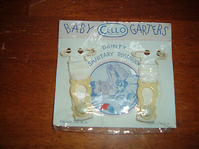 Garters For Baby Antique Vintage Stocking Unused In Original PACK Cello brand