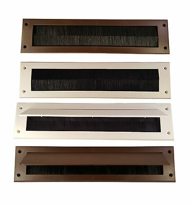 New Letterbox Draught Seal White or Brown Letterbox Excluder Flap Exluders