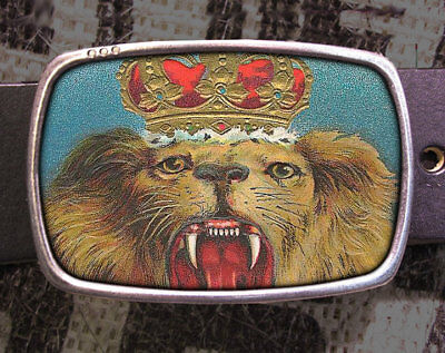 Lion King Vintage Inspired Art Gift Belt Buckle